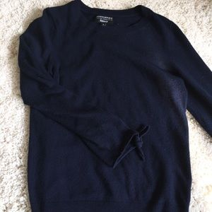 Banana Republic Navy Sweater with Steve Tie Detail